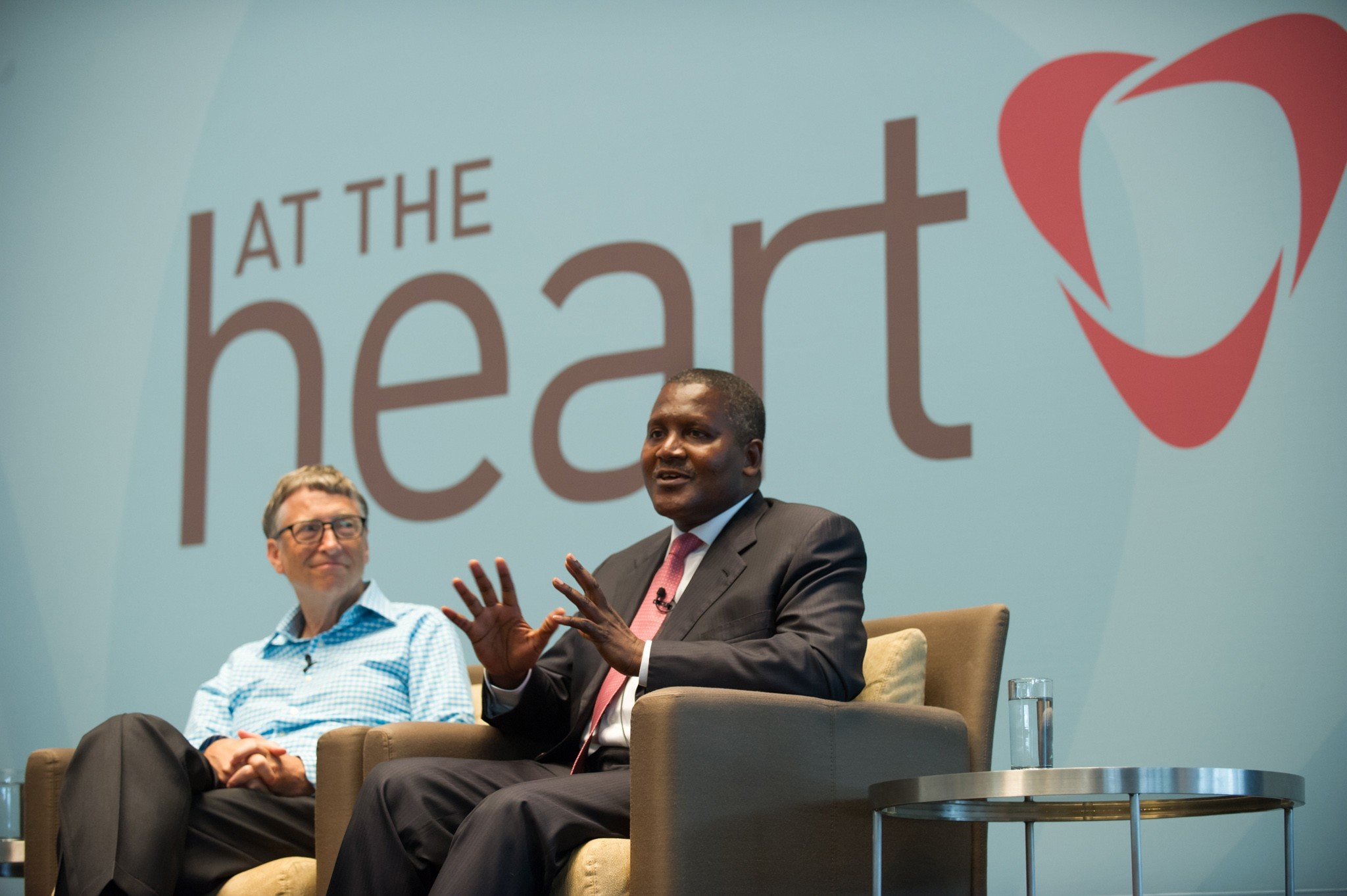 "Bill Gates ""At The Heart"" event with Aliko Dangote."