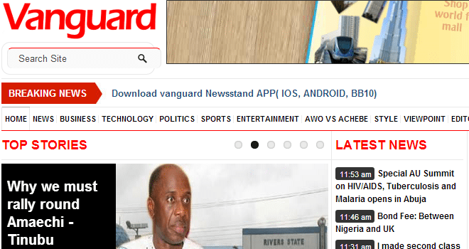 Vanguard-Newspapers - nigerian newspapers