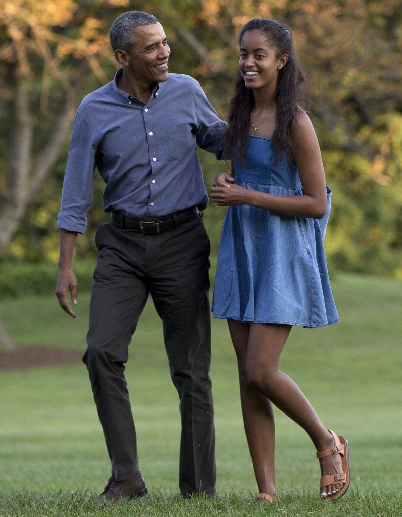 obama and daughter