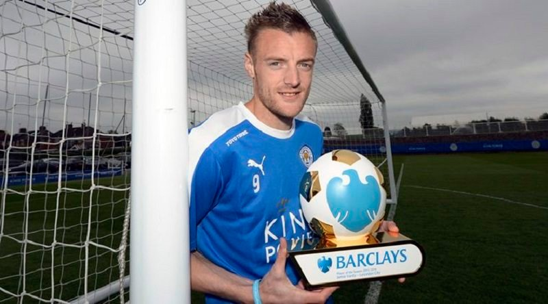 Leicester City's Jamie Vardy wins the Barclays Player Of The Season Award