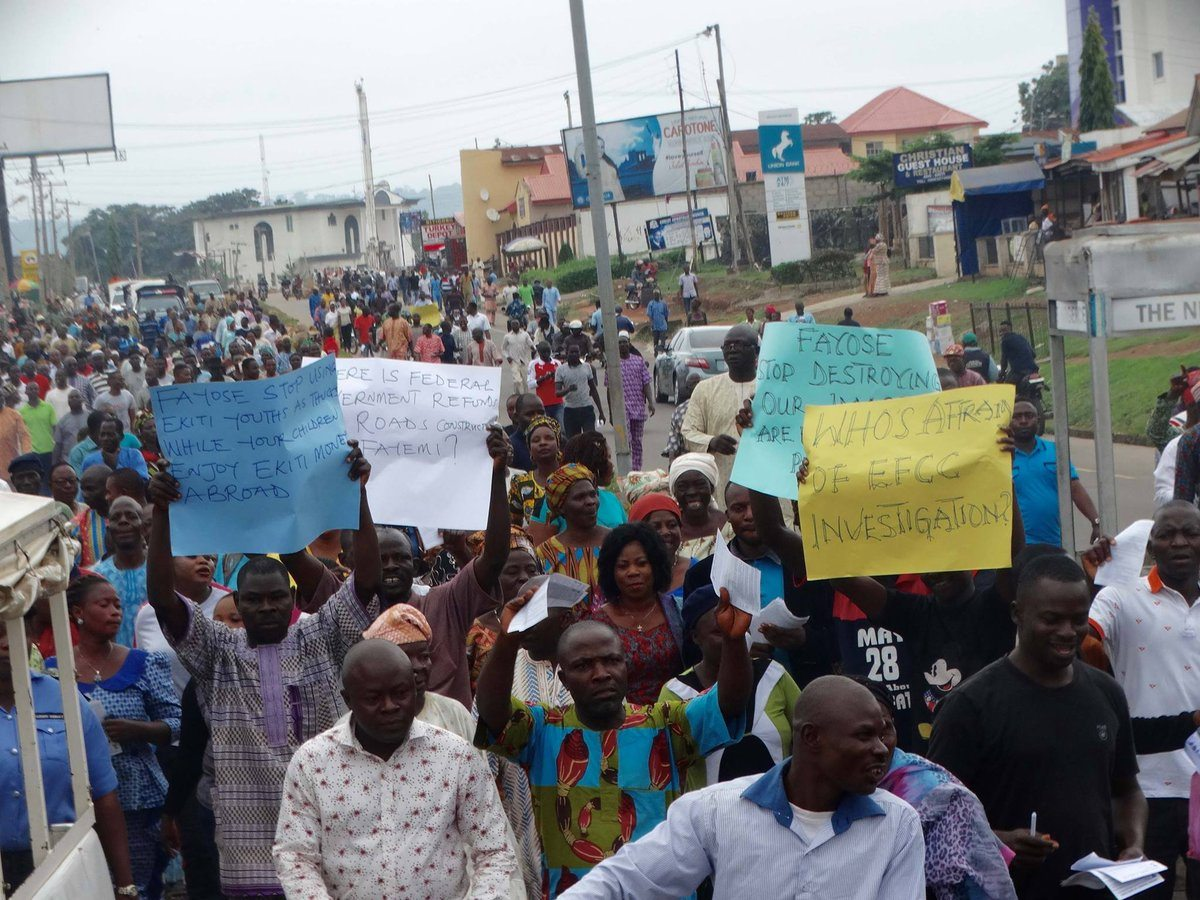 Mass Protest Against Fayose, Protesters' Demands Include...