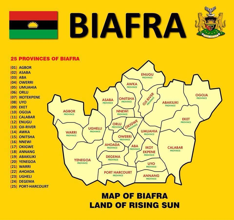 map of Biafra nation